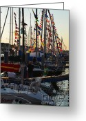 Bayview Greeting Cards - Mackinac race Greeting Card by Randy J Heath