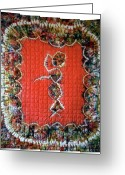 Wall Art Tapestries - Textiles Greeting Cards - 19 Greeting Card by Mildred Thibodeaux