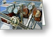 Ghost Photographs Greeting Cards - 1909 Rolls-Royce Silver Ghost ROI des Belges Instruments Greeting Card by Jill Reger