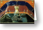 Car Mascot Greeting Cards - 1911 Ford Model T Runabout Hood Ornament Greeting Card by Jill Reger