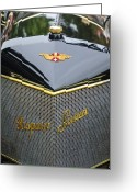 Suiza Greeting Cards - 1912 Hispano-Suiza 15-45 HP Alfonso XIII Jaquot Torpedo Grille Greeting Card by Jill Reger