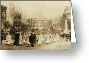 Elections Greeting Cards - 1913 Suffragette Parade in Washington D.C. Greeting Card by Padre Art