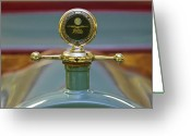 1931 Roadster Greeting Cards - 1913 White Gentlemans Roadster Hood Ornament Greeting Card by Jill Reger