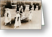 Elections Greeting Cards - 1915 New York City Suffrage Parade Greeting Card by Padre Art