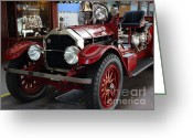 Engines Greeting Cards - 1917 American La France Type 12 Fire Engine Greeting Card by Wingsdomain Art and Photography