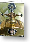 Car Mascot Greeting Cards - 1917 Owen Magnetic M-25 Hood Ornament 2 Greeting Card by Jill Reger
