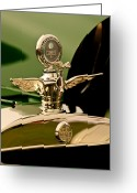 Twitter Greeting Cards - 1919 McFarlan Type 125 Touring Motometer - Hood Ornament Greeting Card by Jill Reger