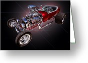 Ford Engine Greeting Cards - 1923 Classic Ford T Bucket Greeting Card by Jim Carrell