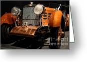 Tulipwood Greeting Cards - 1924 Hispano Suiza Dubonnet Tulipwood . Grille Angle Greeting Card by Wingsdomain Art and Photography