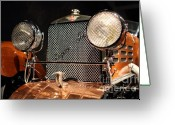 Suiza Greeting Cards - 1924 Hispano Suiza Dubonnet Tulipwood . Grille Greeting Card by Wingsdomain Art and Photography