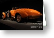 Tulipwood Greeting Cards - 1924 Hispano Suiza Dubonnet Tulipwood . Rear Angle Greeting Card by Wingsdomain Art and Photography