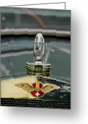 Suiza Greeting Cards - 1925 Hispano-Suiza H6B Kellner Landaulet Hood Ornament Greeting Card by Jill Reger