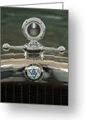 Woody Wagon Greeting Cards - 1926 Dodge Woody Wagon Hood Ornament Greeting Card by Jill Reger