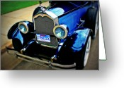 Blue Buick Greeting Cards - 1927 Blue Buick Greeting Card by Perry Webster