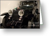 British Classic Cars Greeting Cards - 1927 Rolls Royce Phantom 1 Towncar - 7D17195 Greeting Card by Wingsdomain Art and Photography