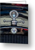 Car Mascot Greeting Cards - 1928 Dodge Brothers Hood Ornament Greeting Card by Jill Reger