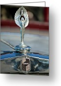 Car Mascot Greeting Cards - 1928 Nash Coupe Hood Ornament 2 Greeting Card by Jill Reger