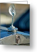 Mascots Greeting Cards - 1928 Nash Coupe Hood Ornament Greeting Card by Jill Reger
