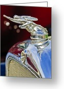 Car Mascot Greeting Cards - 1928 Studebaker Hood Ornament 2 Greeting Card by Jill Reger