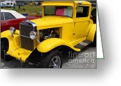 Collectors Car Greeting Cards - 1929 Chevrolet Coupe 7d15140 Greeting Card by Wingsdomain Art and Photography