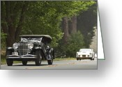 Cowl Greeting Cards - 1929 Duesenberg J Dual Cowl Greeting Card by Jill Reger