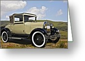 Model A Greeting Cards - 1929 Ford Model A Greeting Card by Patricia Stalter