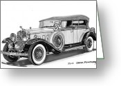 90s Greeting Cards - 1930 Cadillac Phaeton Greeting Card by Jack Pumphrey