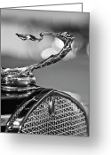 Car Mascot Greeting Cards - 1930 Cadillac Roadster Hood Ornament 2 Greeting Card by Jill Reger