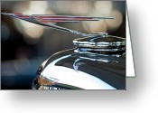 Cowl Greeting Cards - 1930 Duesenberg Dual Cowl Phaeton Hood Ornament Greeting Card by Jill Reger