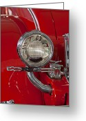Top Model Greeting Cards - 1930 Duesenberg Model J Disappearing-Top Convertible Taillight Greeting Card by Jill Reger