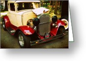 Model A Greeting Cards - 1930 Ford Model A Coupe Greeting Card by Cathie Tyler