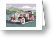 Cowl Greeting Cards - 1930 Model J  Duesenberg Greeting Card by Jack Pumphrey