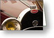 1931 Roadster Greeting Cards - 1931 Buggati Type 55 Roadster Grille Emblem Greeting Card by Jill Reger