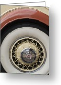 1931 Roadster Greeting Cards - 1931 Cadillac Roadster Wheel Greeting Card by Jill Reger