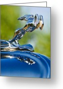 1931 Roadster Greeting Cards - 1931 Chrysler CN Roadster Hood Ornament 2 Greeting Card by Jill Reger