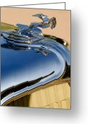 1931 Roadster Greeting Cards - 1931 Chrysler CN Roadster Hood Ornament 3 Greeting Card by Jill Reger