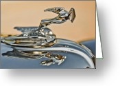 1931 Roadster Greeting Cards - 1931 Chrysler CN Roadster Hood Ornament Greeting Card by Jill Reger