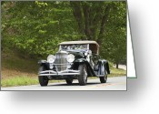1931 Roadster Greeting Cards - 1931 Duesenberg J Packard Roadster  Greeting Card by Jill Reger