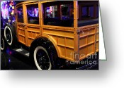 Woody Wagon Greeting Cards - 1931 Ford Model A Station Wagon - 7D17489 Greeting Card by Wingsdomain Art and Photography