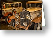 1929 Roadster Greeting Cards - 1931 La Salle Series 345r and 1929 Packard Roadster Greeting Card by Douglas Barnard