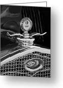 1931 Roadster Greeting Cards - 1931 Model A Ford Deluxe Roadster Hood Ornament 2 Greeting Card by Jill Reger