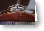 1931 Roadster Greeting Cards - 1931 Packard 840 Roadster Hood Ornament Greeting Card by Jill Reger