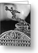  Collector Hood Ornaments Greeting Cards - 1931 Packard Convertible Victoria Hood Ornament 2 Greeting Card by Jill Reger