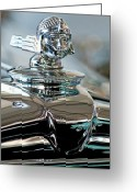 Car Mascot Greeting Cards - 1931 Stutz DV-32 Sedan Hood Ornament Greeting Card by Jill Reger