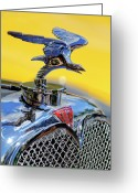 Mascots Greeting Cards - 1932 Alvis Hood Ornament Greeting Card by Jill Reger
