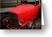 Racecars Greeting Cards - 1932 Ford Hi-Boy Roadster - 7D17242 Greeting Card by Wingsdomain Art and Photography