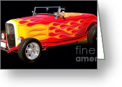 Hotrod Photo Greeting Cards - 1932 Ford Hotrod Greeting Card by Jim Carrell