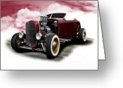D700 Greeting Cards - 1932 Ford Mobel B Roadster Greeting Card by Carl Shellis