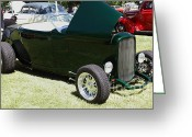 Classic Ford Roadster Greeting Cards - 1932 Ford Roadster . 5D16174 Greeting Card by Wingsdomain Art and Photography