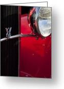 Classic Ford Roadster Greeting Cards - 1932 Ford Roadster Grille Greeting Card by Jill Reger